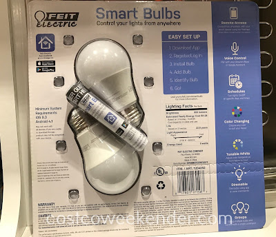 Costco 1204252 - Feit Electric 60w WiFi Smart Bulbs: great for any home