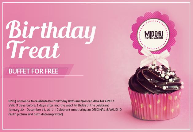 Midori Clark Hotel and Casino FREE Dinner Buffet for Birthday
