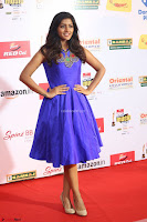Eesha in Cute Blue Sleevelss Short Frock at Mirchi Music Awards South 2017 ~  Exclusive Celebrities Galleries 064.JPG