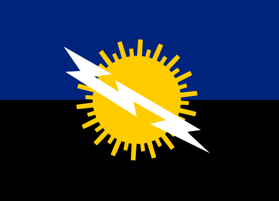 Flag of the State of Zulia in Venezuela