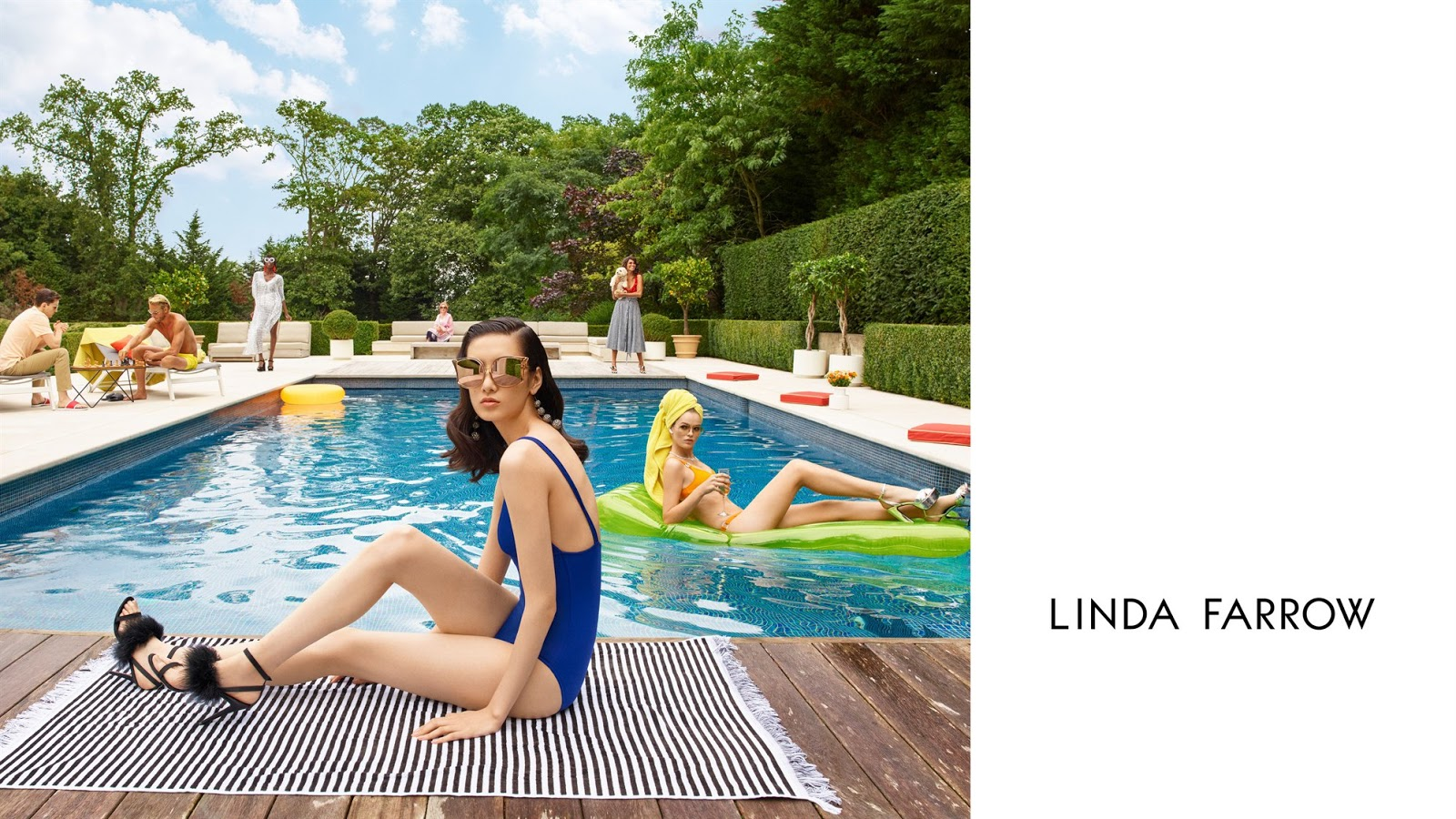 Linda Farrow Spring Summer 2018 Ad Campaign by Slim Aarons