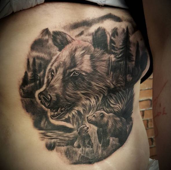 50 amazing bear tattoos designs and ideas 2018 page 5 for Bear cub tattoo