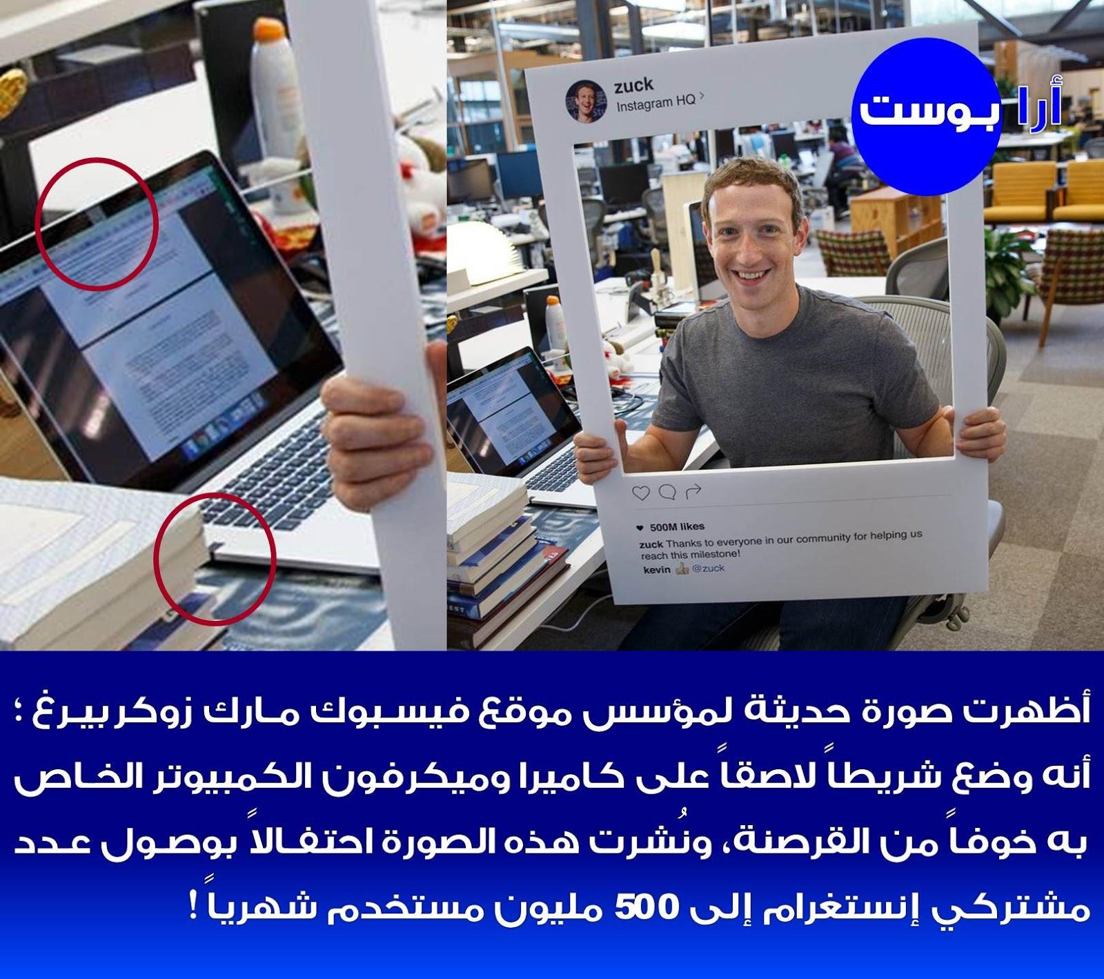 مؤسس موقع فيسبوك مارك زوكربيرغ يخشى القرصنة !