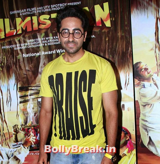 Ayushmann Khurrana, Aditi Rao, Shilpa, Tisca at Filmistaan Movie Special Screening at Lightbox