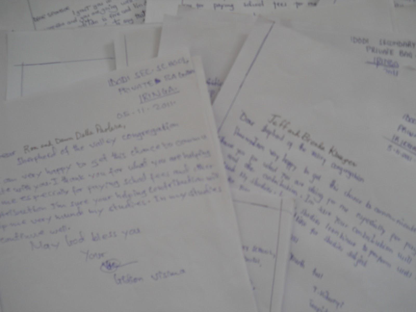 Tanzania Partnership: Letters