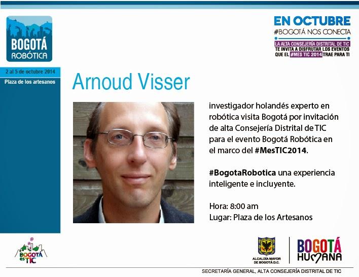 Arnoud Vissser en Bogotá