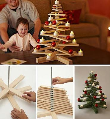 PASO A PASO Arbolitos de Navidad de madera  con Ramas Giratorias