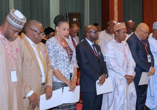 buhari 7 new permanent secretaries photos