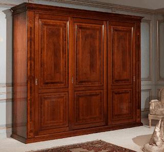 Model lemari pakaian kayu minimalis