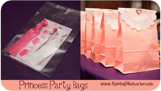 Pretty Princess Treat Bags at www.RaisingMemories.com