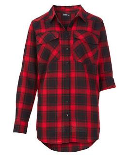 koszula w czarno-czerwoną kratkę z Kika