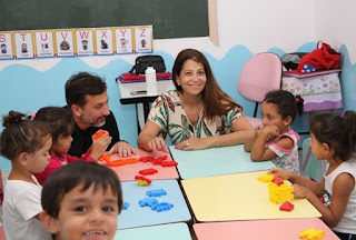 Prefeito Renato Soares e primeira-dama Laumar, visitam escolas da rede municipal de ensino em Juquiá