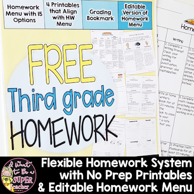 https://www.teacherspayteachers.com/Product/Third-Grade-Homework-Freebie-4-NO-PREP-Printables-Editable-Homework-Menu-2802386?utm_source=ST%20Blog&utm_campaign=HW%20Blog%20Post%20Freebie%20Pic