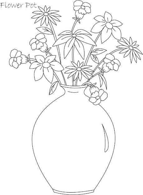 Needlework Drawing Simple Flower Pots Images With Colors  Images  About Drawing On Pinterest  Drawing