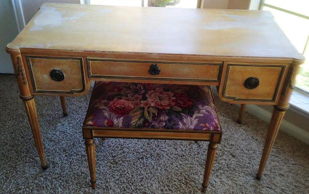 Houseofniyemania Revamp Of 1955 Desk Vanity