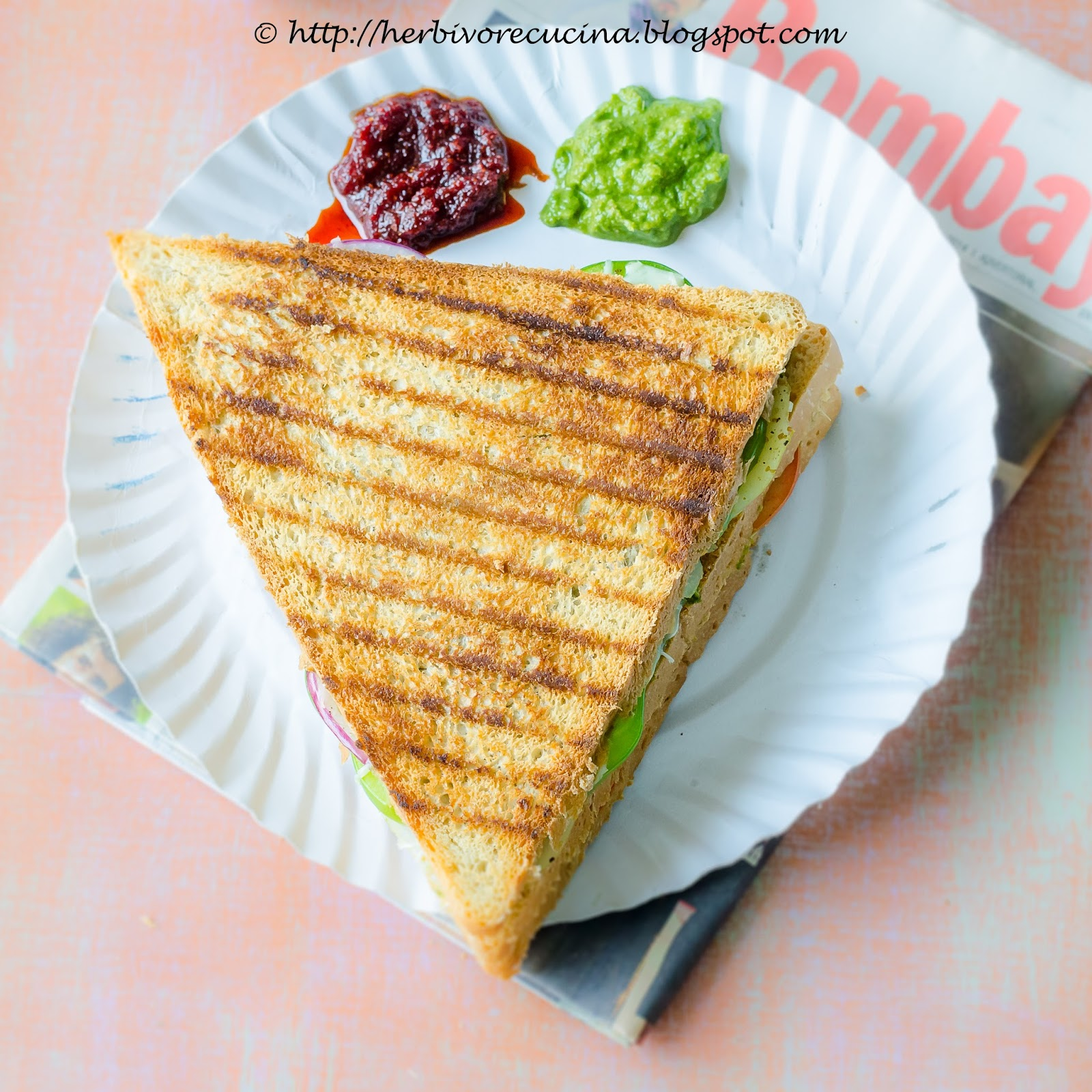 Herbivore Cucina Vegetable And Cheese Grilled Sandwich