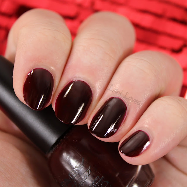 Faby Posh Collection - Rouge Fonce Nail Polish Swatches & Review