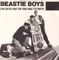 Portada del vinilo con el single (You Gotta) Fight for Your Right (To Party) de los Beasty Boys, 1986