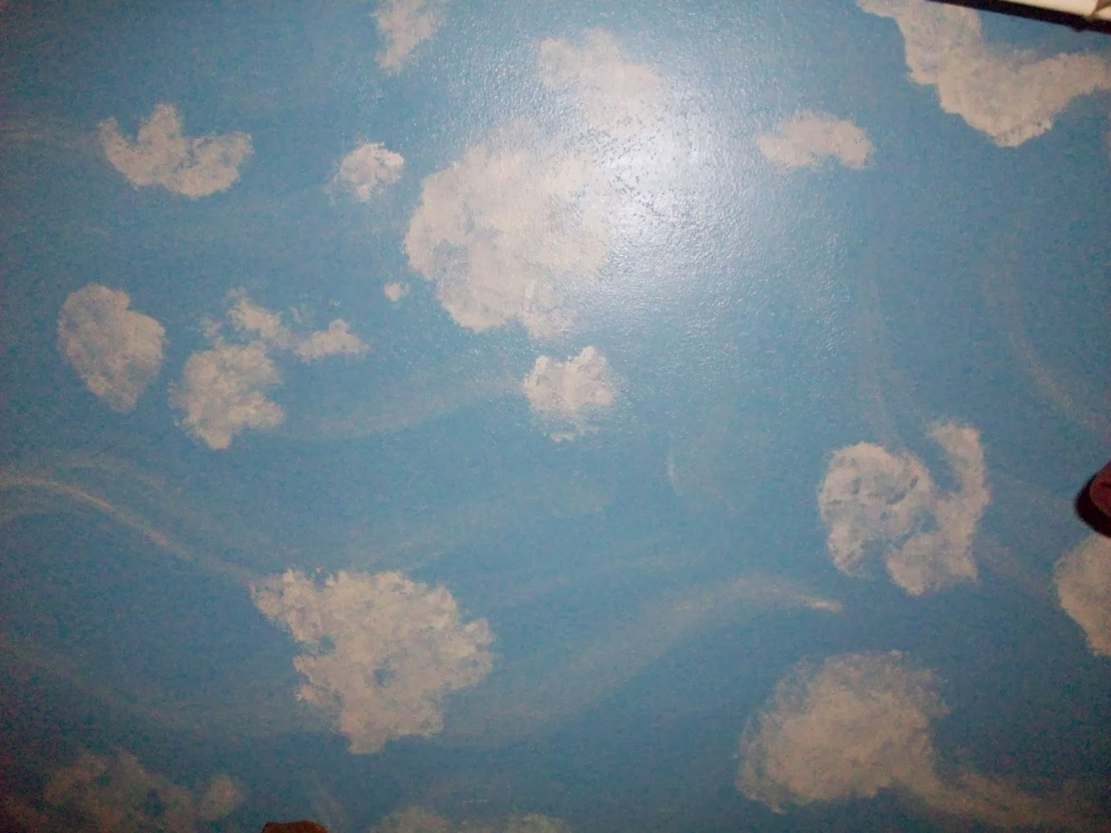 I Painted Our Bedroom Sky Blue With Clouds In 2005 The Theme Is Jimmy Buffett Hanging Lanterns Parrots Beach Scenes Etc My House So