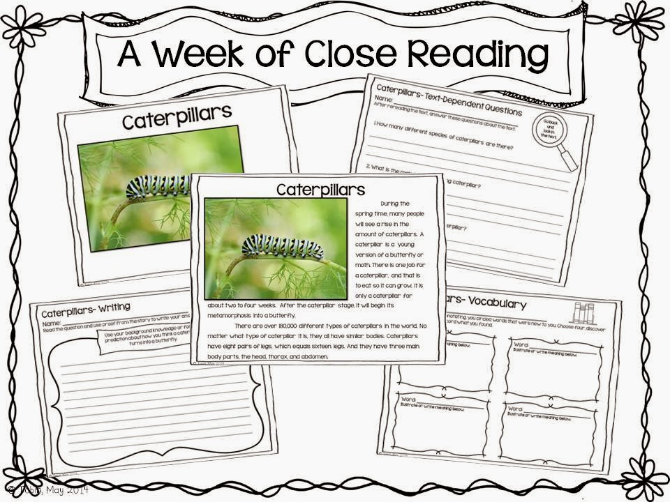 Close Reading for the spring time- helping students dig deeper with spring time theme close reading passages