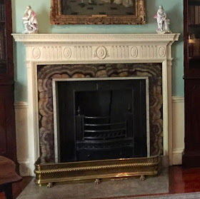 Blue John fire surround in the study  of the Georgian House, Bristol