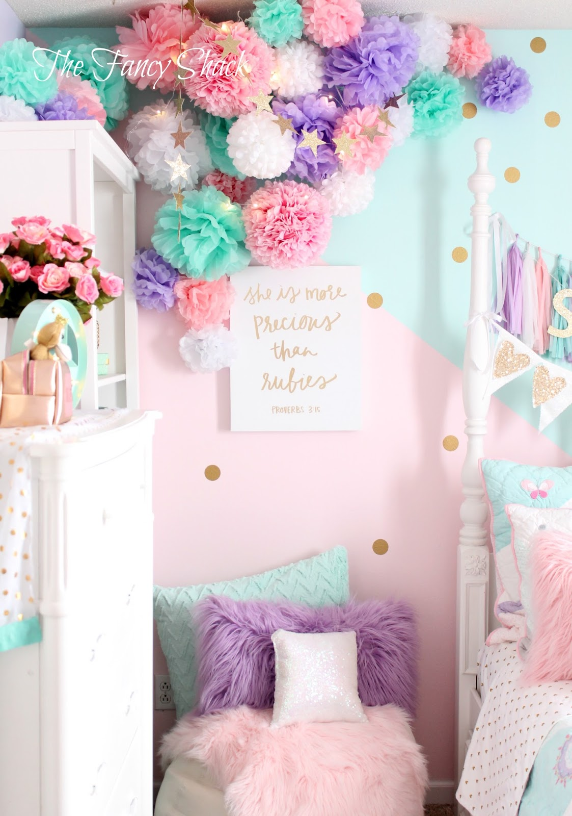 Stuff For Room Decor The Fancy Shack Pastel Girls Room Makeover
