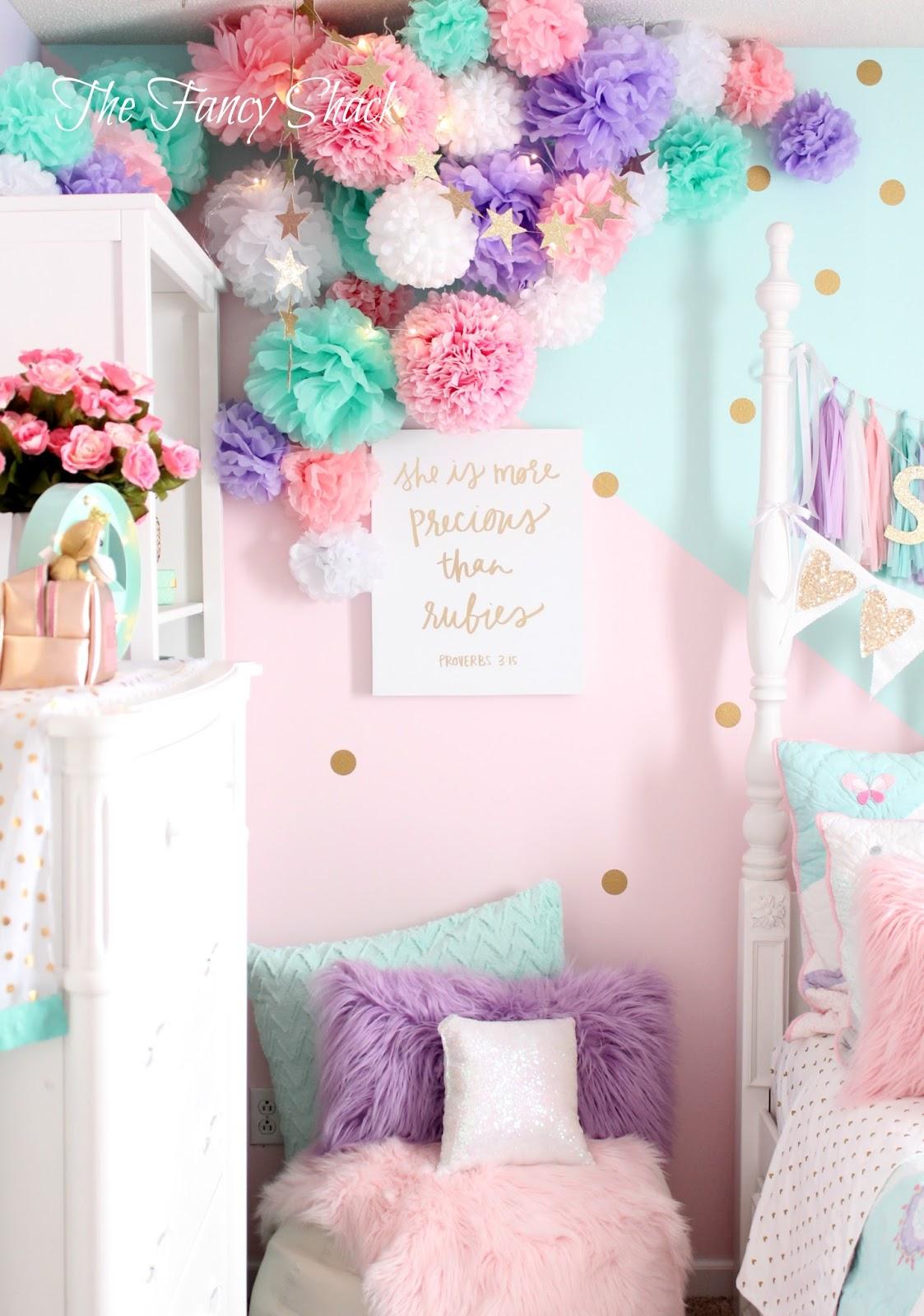 The Fancy Shack Pastel Girls Room Makeover