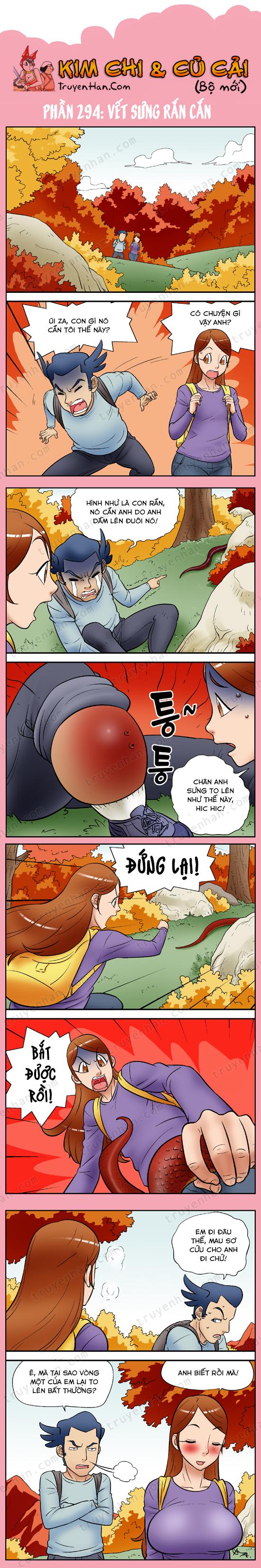 Kim Chi Và Củ Cải phần 294: Vết sưng rắn cắn
