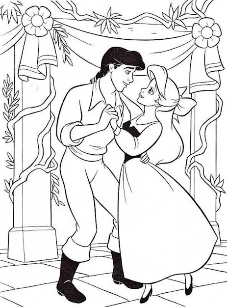 Ariel Dancing Coloring Page
