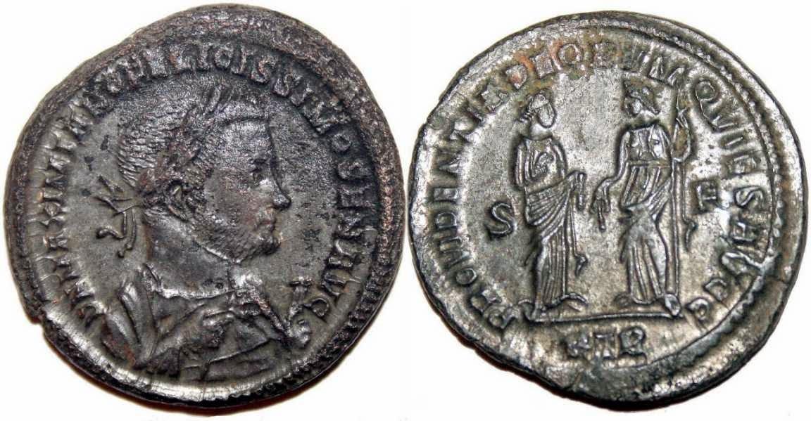 Herencia en monedas romanas
