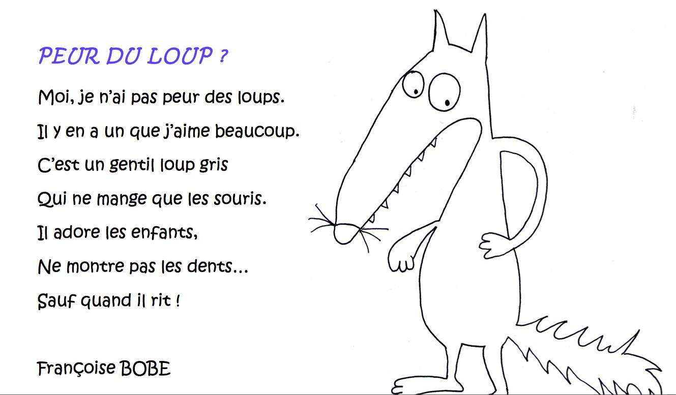 Je Parle Français En Maternelle Poème Peur Du Loup