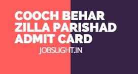 Cooch Behar Zilla Parishad Admit Card 2017