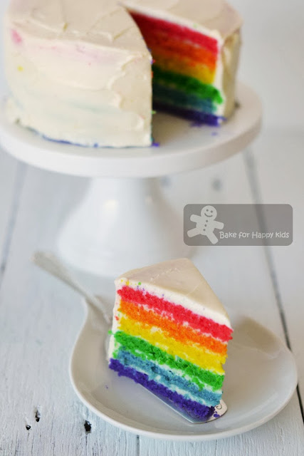 Bake For Happy Kids Rainbow Cake