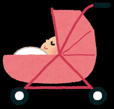ベビーカーのイラスト(赤ちゃん)
