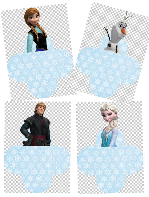 Cajas Abiertas de Frozen para Imprimir Gratis.