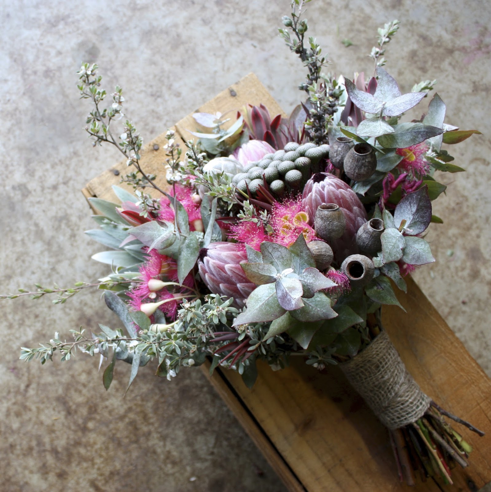 Swallows nest farm diy bush wedding in march the colour scheme was pink and pretty with native blooms and the idea was for the bride and groom to do their own decorating and possibly the bouquets izmirmasajfo
