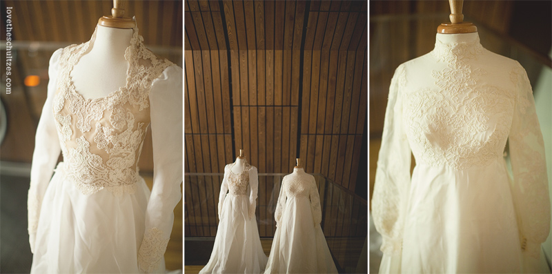 In My Shoes Sentimental Wedding Dress Display