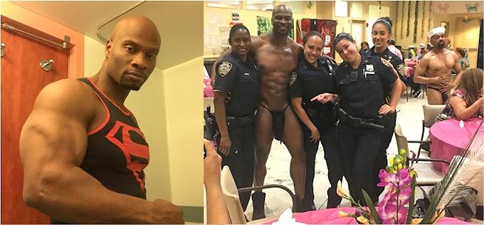 Stripper aclara que mujeres policías le pidieron foto con él en acto a madres dominicanas en el Alto Manhattan