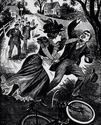 Thrashed by a Lady Cyclist, 1899