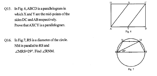 CBSE Sample paper for class 9 mathematics