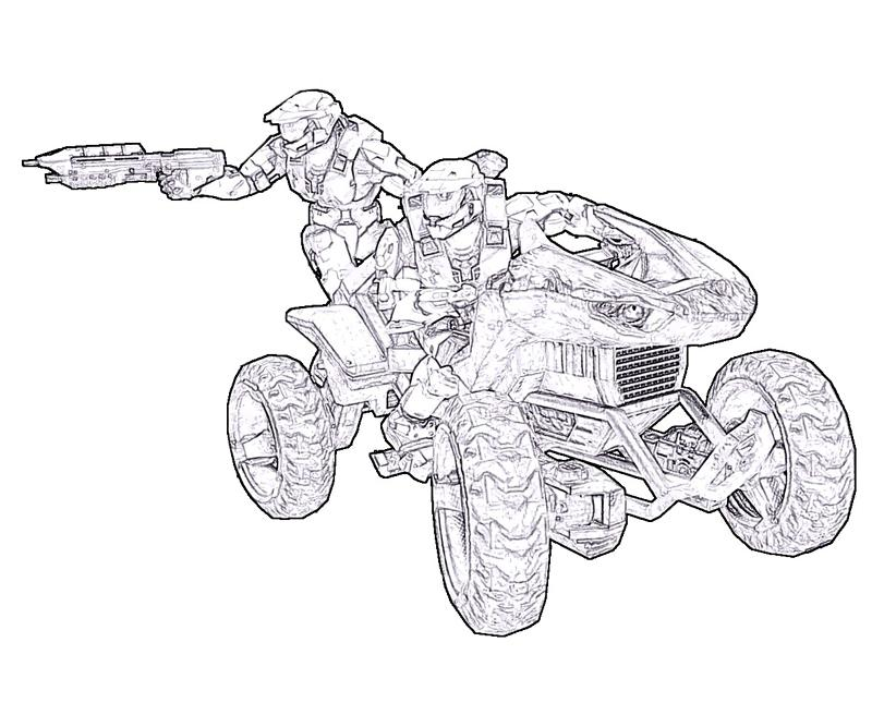 Halo Assault Rifle Coloring Pages Coloring Pages