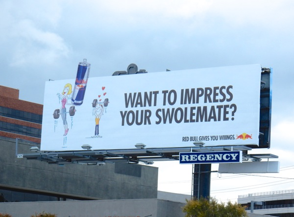 Red Bull impress your swolemate billboard