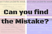 Can you find the mistake? Brain teasers