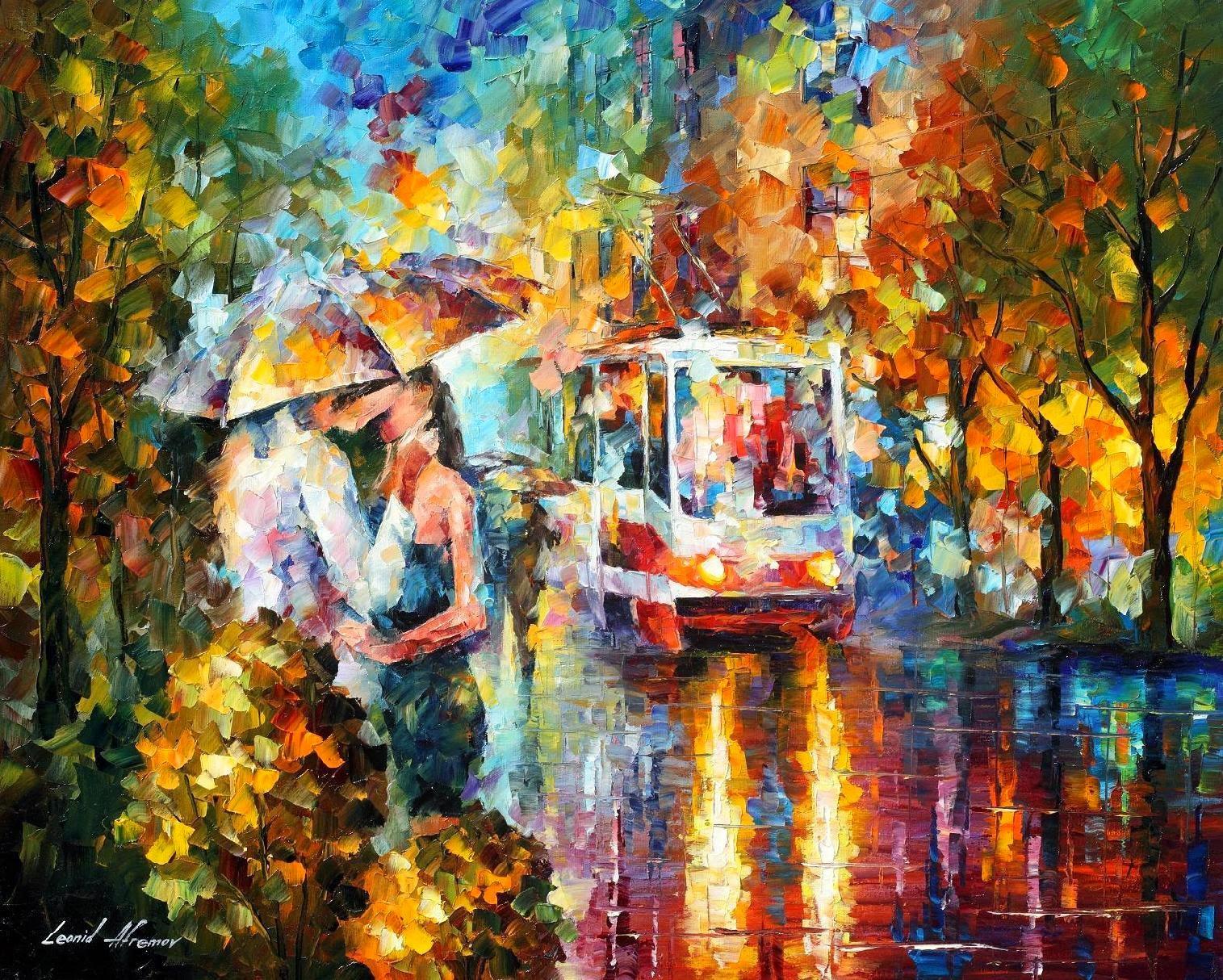 Paixão - Pinturas de Leonid Afremov | O mestres da  espátula