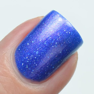 royal blue nail polish with shimmer
