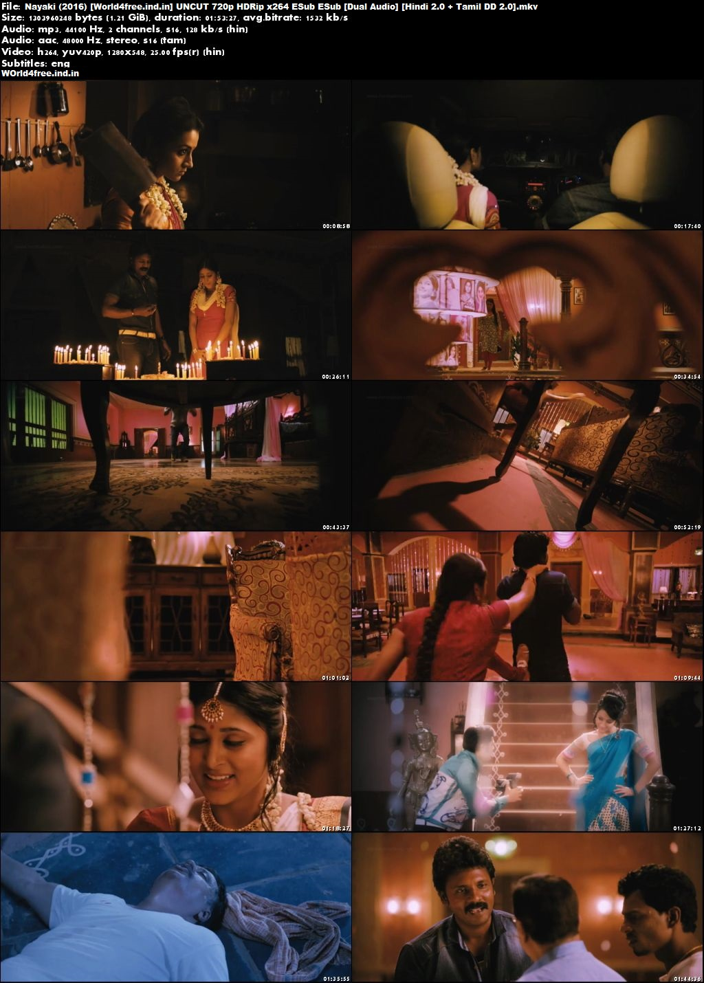 Nayaki 2016 world4free.ind.in Hindi Dubbed Movie HDRip 720p Download Dual Audio