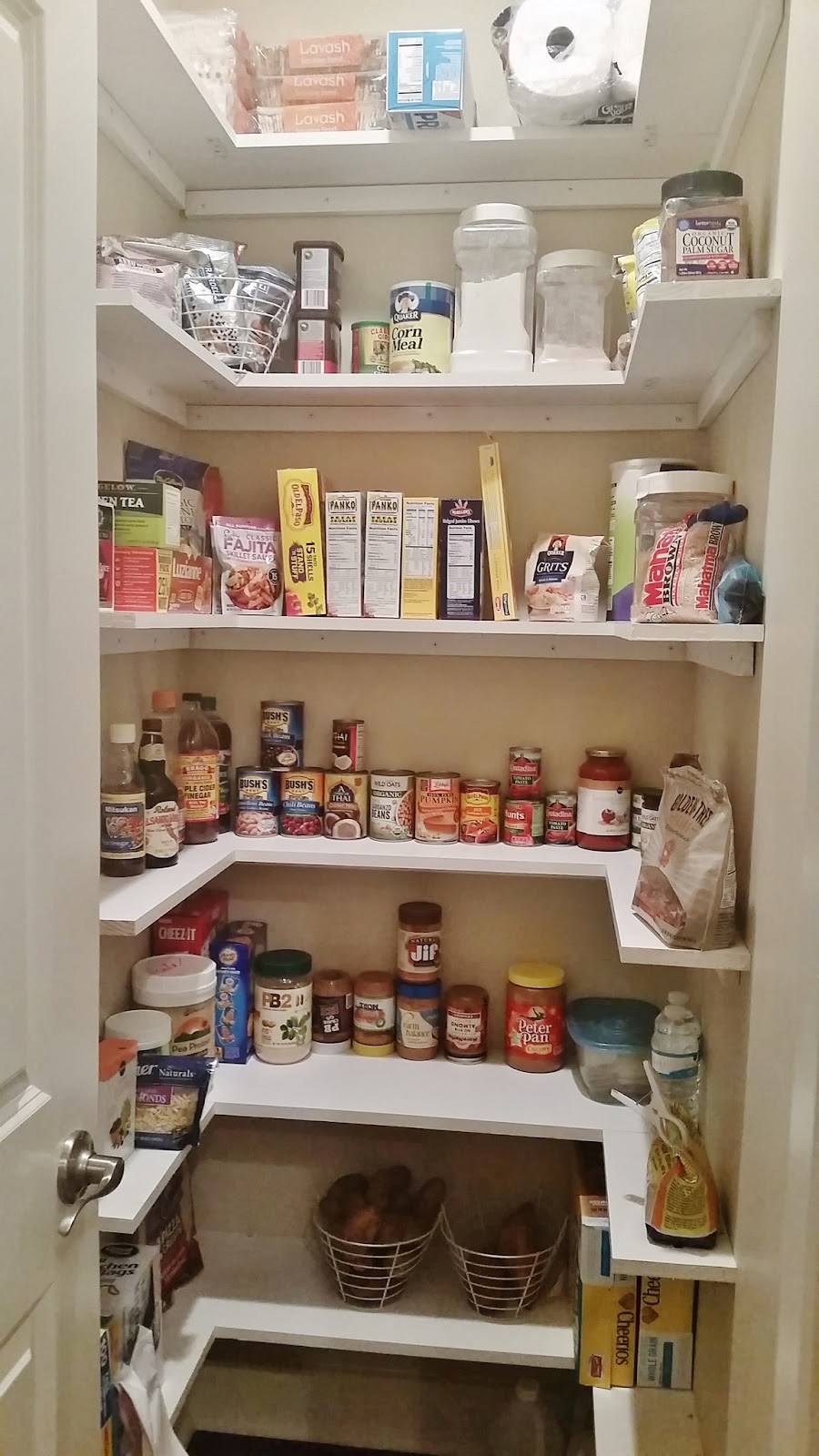 Pantry Shelves Kitchen Pantry Makeover Replace Wire Shelves With Wrap Around
