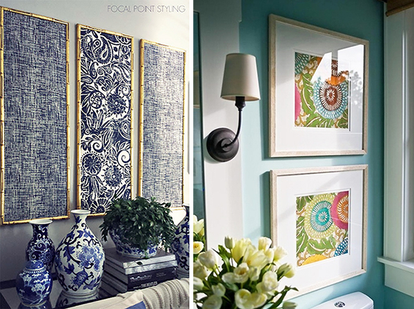 3 Great Ideas For Turning Fabric Into Wall Art