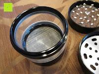 """innen: DCOU aluminium tabak spice herb mühle / anlage mühle / pollen sammler mit magnetischen cover mit pollen - fänger 4 schichten 2,5 - Zoll """"schwarz"""