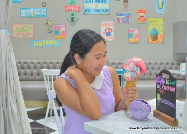 ice cream treat in Ellas Creamery at Riverland Dubai